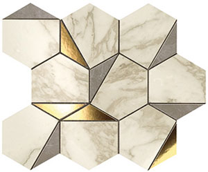 Marvel Gold Hex Gris Calacatta