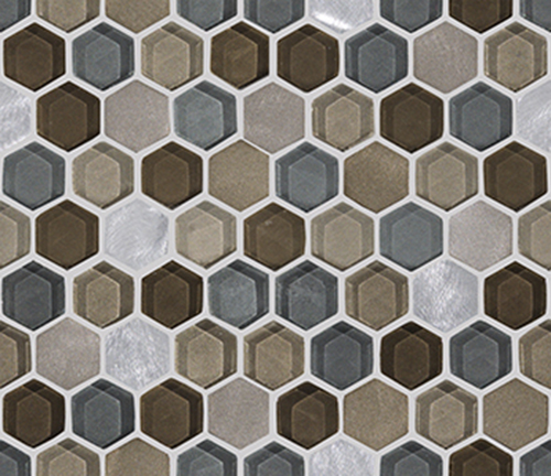 мозаика, L241711091 FUSION HEXAGON CARAMEL MIX, 29,5x25,5