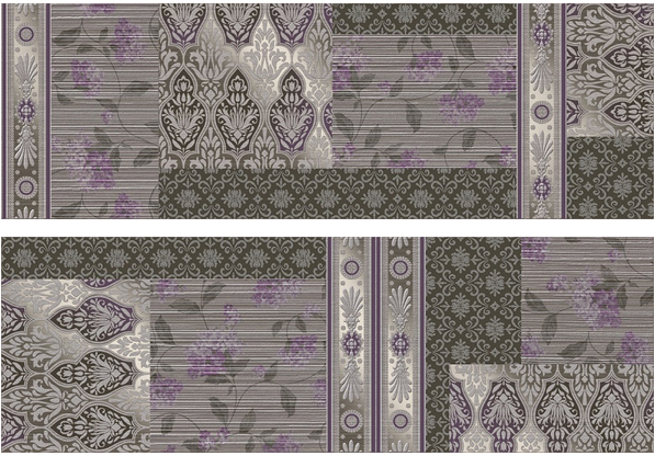 декор, Decor Patchwork Grafito (set2), 2x30x90