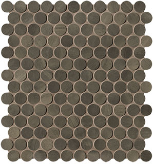 Brickell Brown Round Mosaico Matt