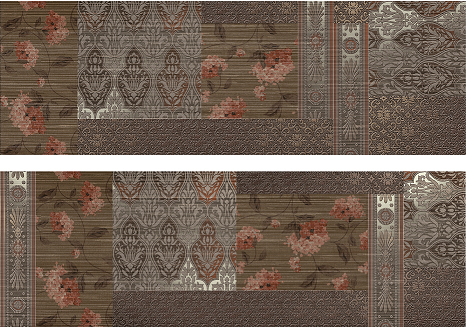 декор, Decor Patchwork Marron (set2), 2x30x90