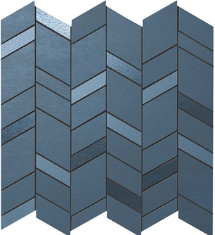 Mek Blue Mosaico Chevron Wall
