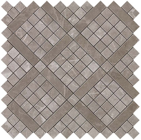 мозаика(м2), Marvel Grey Fleury Diagonal Mosaic, 30,5x30,5